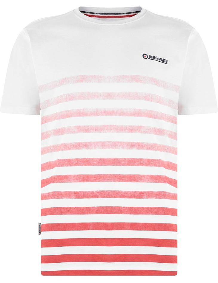 Pánske pruhované tričko Lambretta vel. L