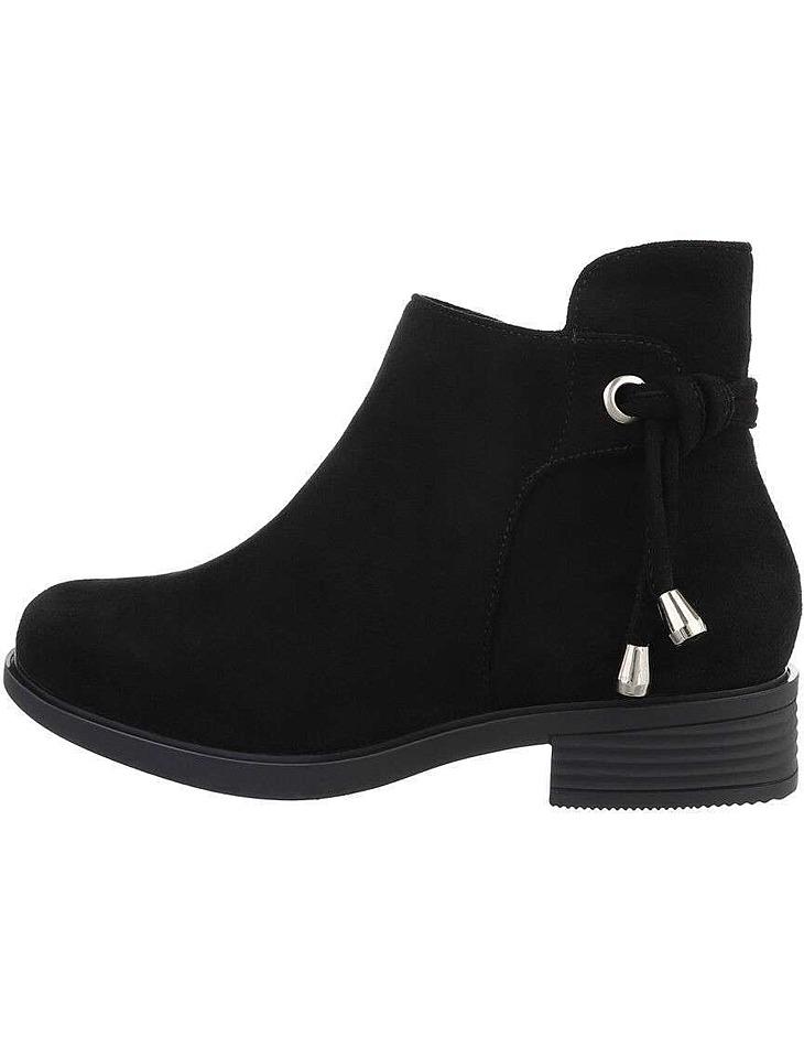 Dámske čierne členkové topánky vel. 38