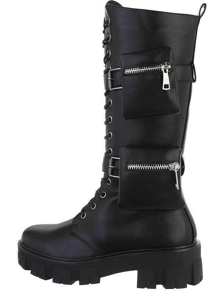 Dámske šnurovacie topánky - čierne vel. 38
