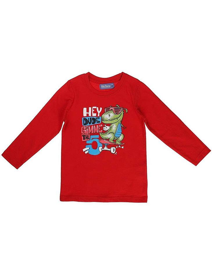 Chlapčenské bavlnené tričko s dlhým rukávom vel. 110