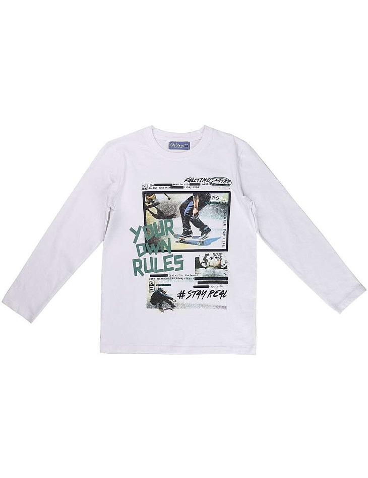 Chlapčenské bavlnené tričko s dlhým rukávom vel. 134