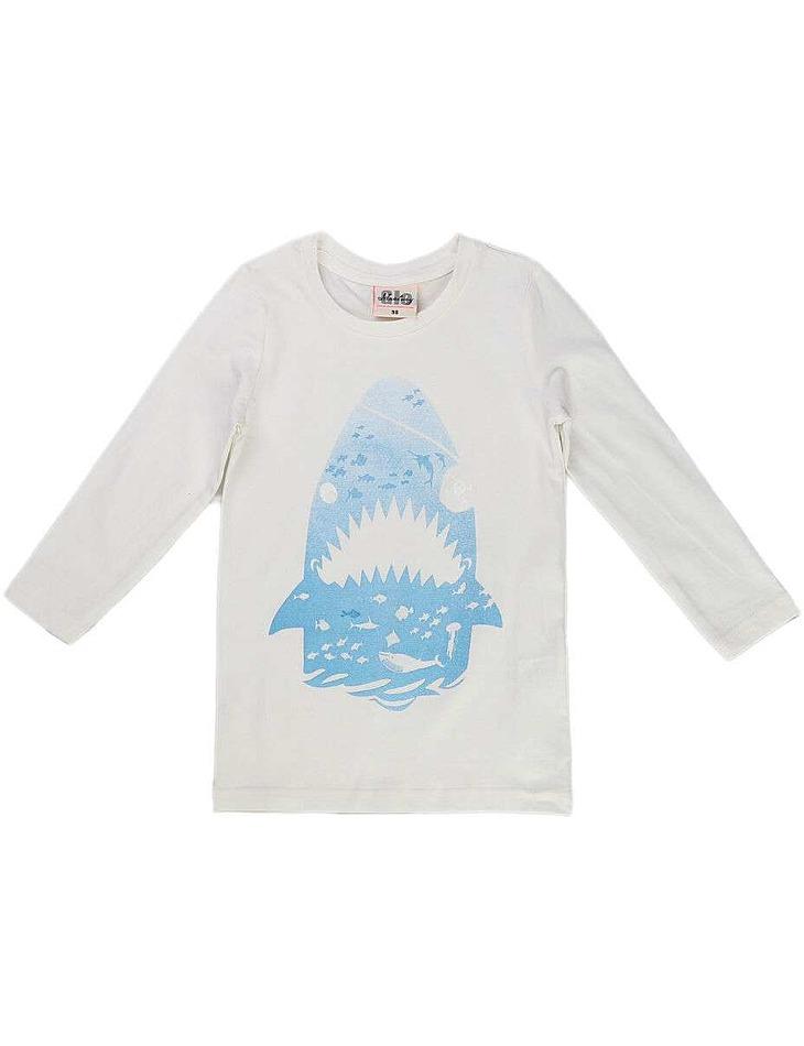 Chlapčenské bavlnené tričko s dlhým rukávom vel. 104