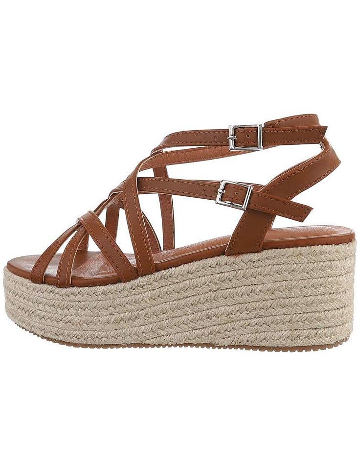 Dámske klinové sandále vel. 37