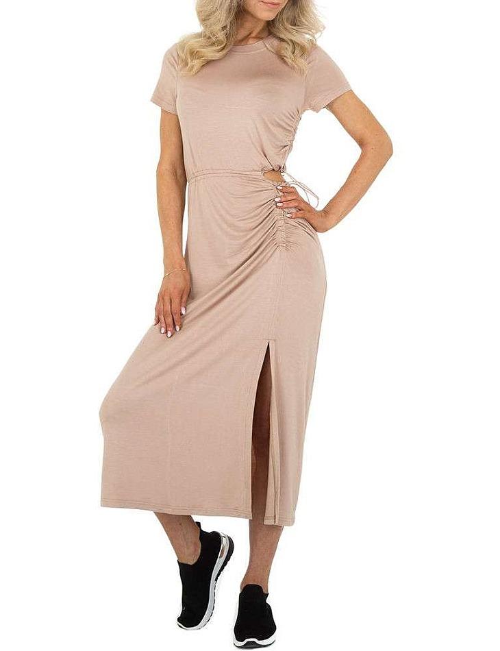Dámske štýlové šaty vel. 6 Stück in beige. Size: S/M-M/L