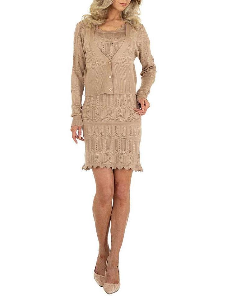Dámske strečové šaty vel. 6 Stück in beige Size: M/L, S/M