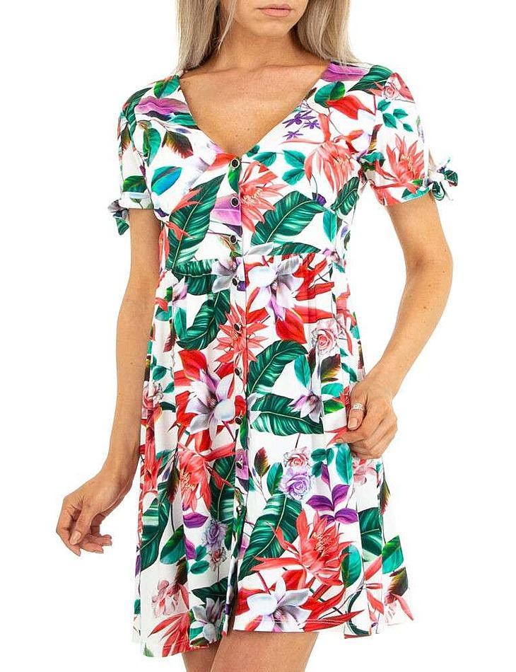 Dámske kvetinové letné šaty vel. XL/42