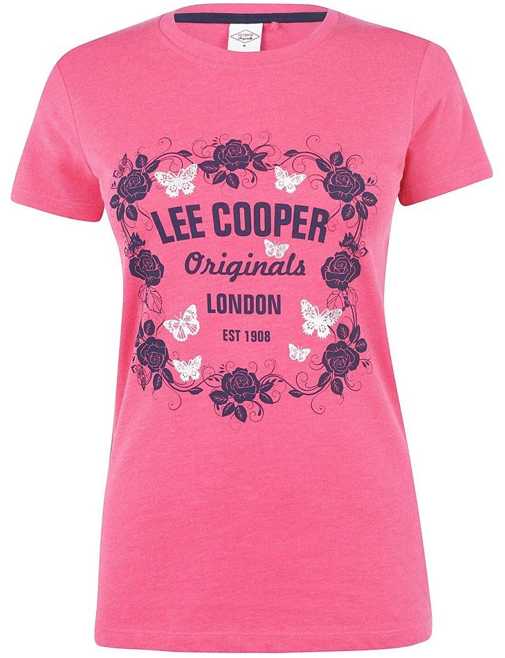 Dámske bavlnené tričko Lee Cooper vel. L