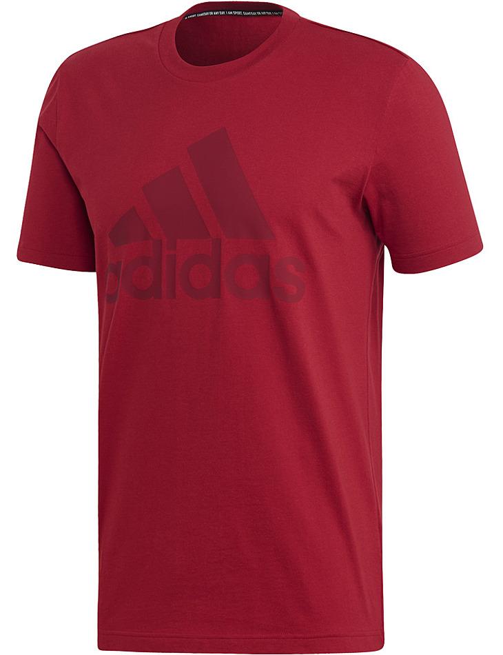 Červené pánske tričko Adidas vel. M