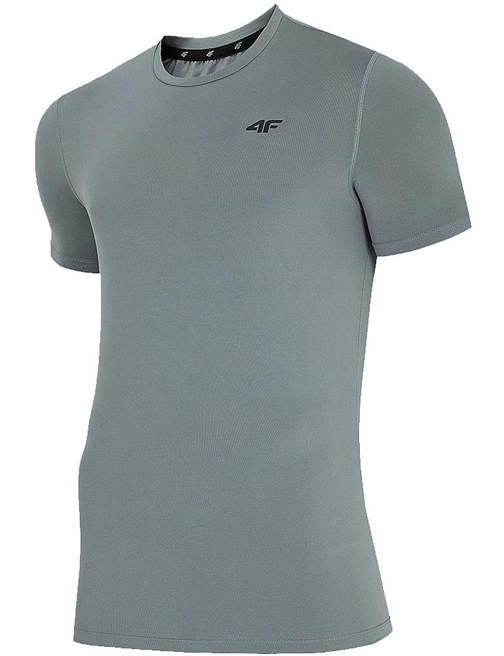 Šedé pánske tričko 4F vel. 2XL