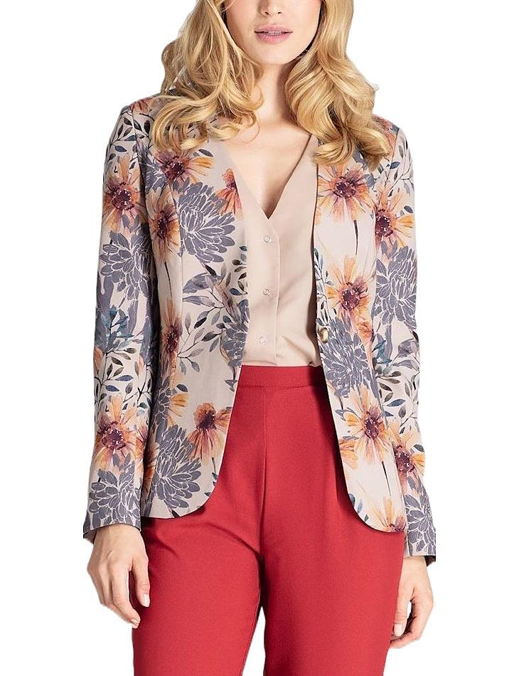 Sako s kvetinovým vzorom vel. XL