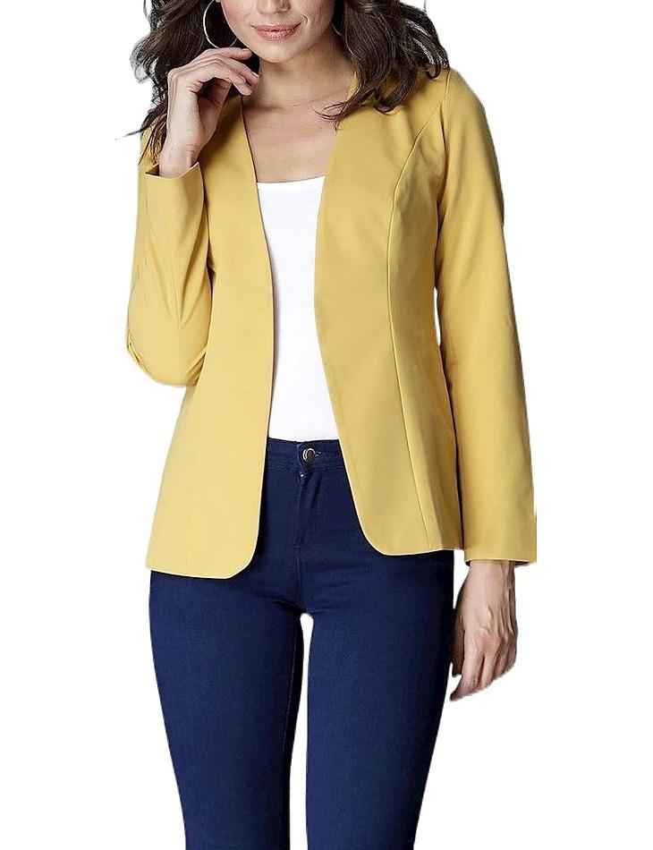 žlté dámske sako vel. S
