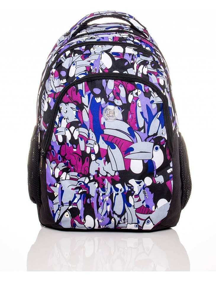Detský školský batoh s motívom vtáky vel. univerzální