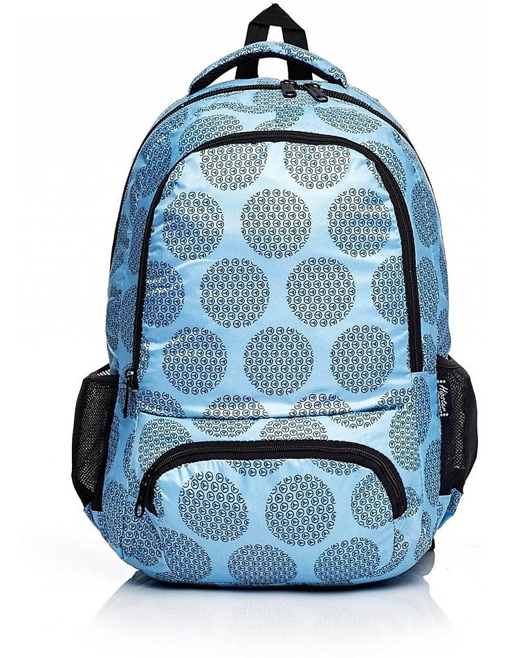 Modrý školský batoh s grafickým vzorom vel. univerzální
