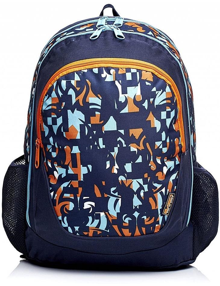 Tmavo-modrý školský batoh so vzormi vel. univerzální