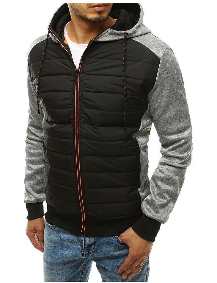 čierno-šedá pánska prechodová bunda vel. 2XL