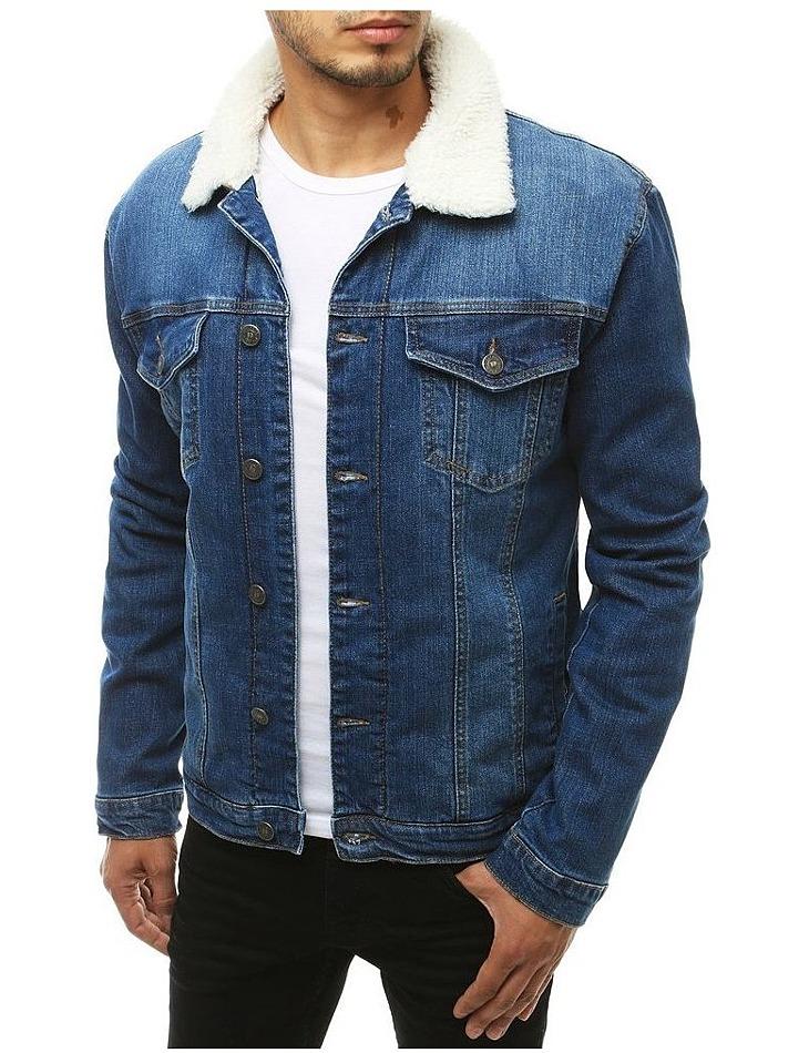 Modrá Vyteplený džínsová bunda vel. M