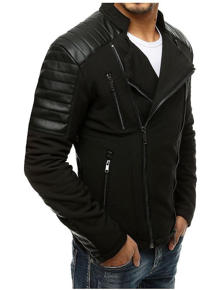 čierna pánska koženková bunda vel. M