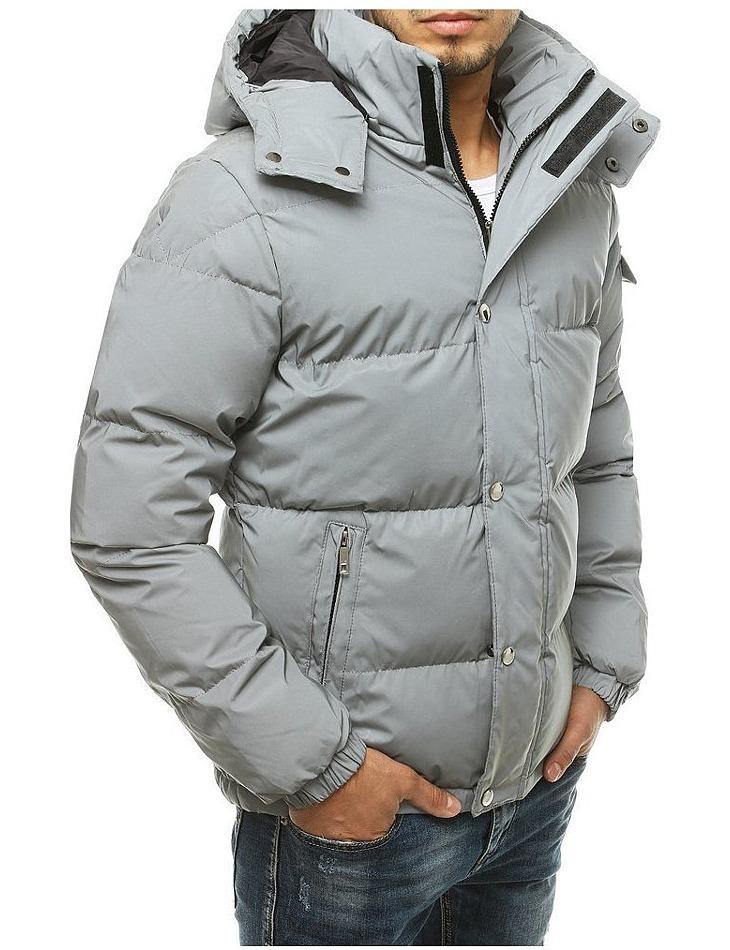 Pánska šedá prešívaná bunda vel. 2XL
