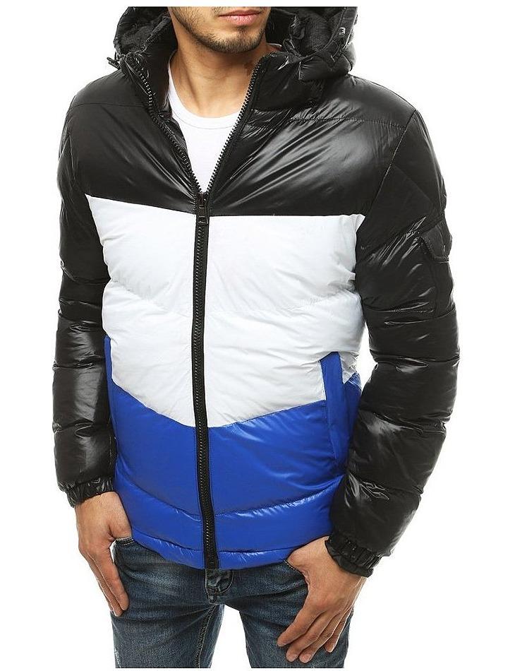 Bielo-modrá pánska prešívaná bunda vel. M