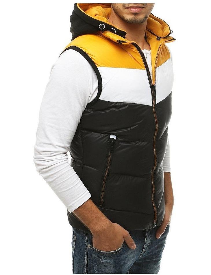 žlto-čierna vesta s kapucňou vel. 2XL