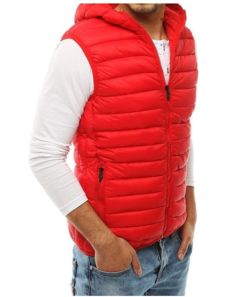 červená pánska prešívaná vesta vel. 2XL
