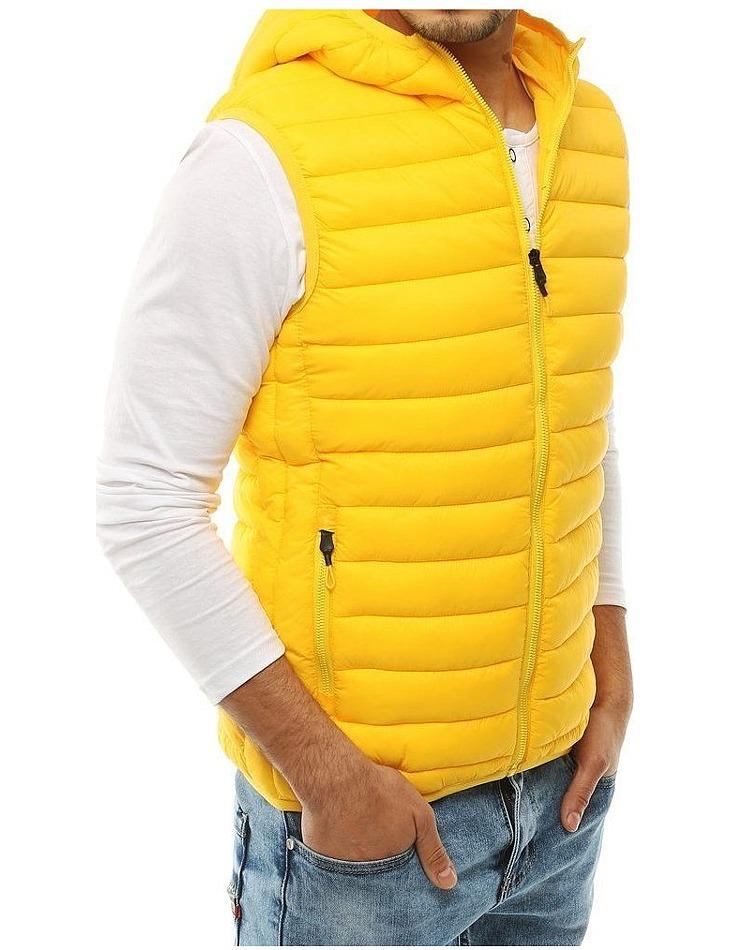 žltá pánska prešívaná vesta vel. 2XL
