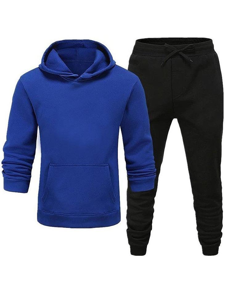 Pánska modro-čierna tepláková súprava vel. XL