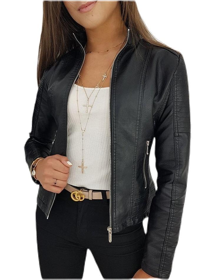 čierna koženková bunda vel. L
