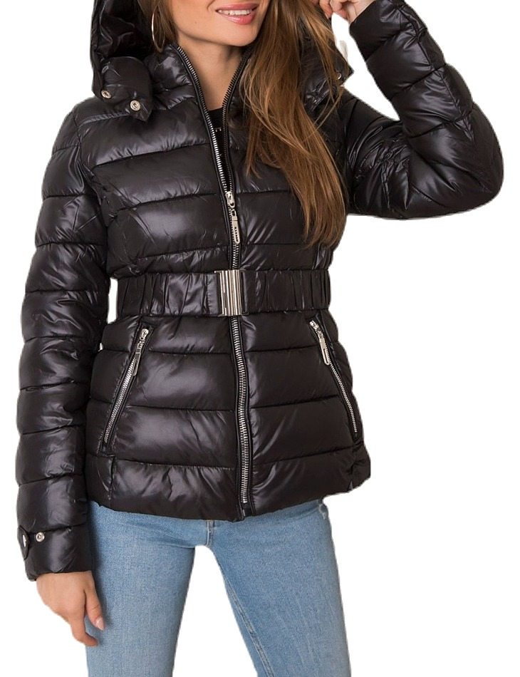 čierna dámska prešívaná bunda vel. XL