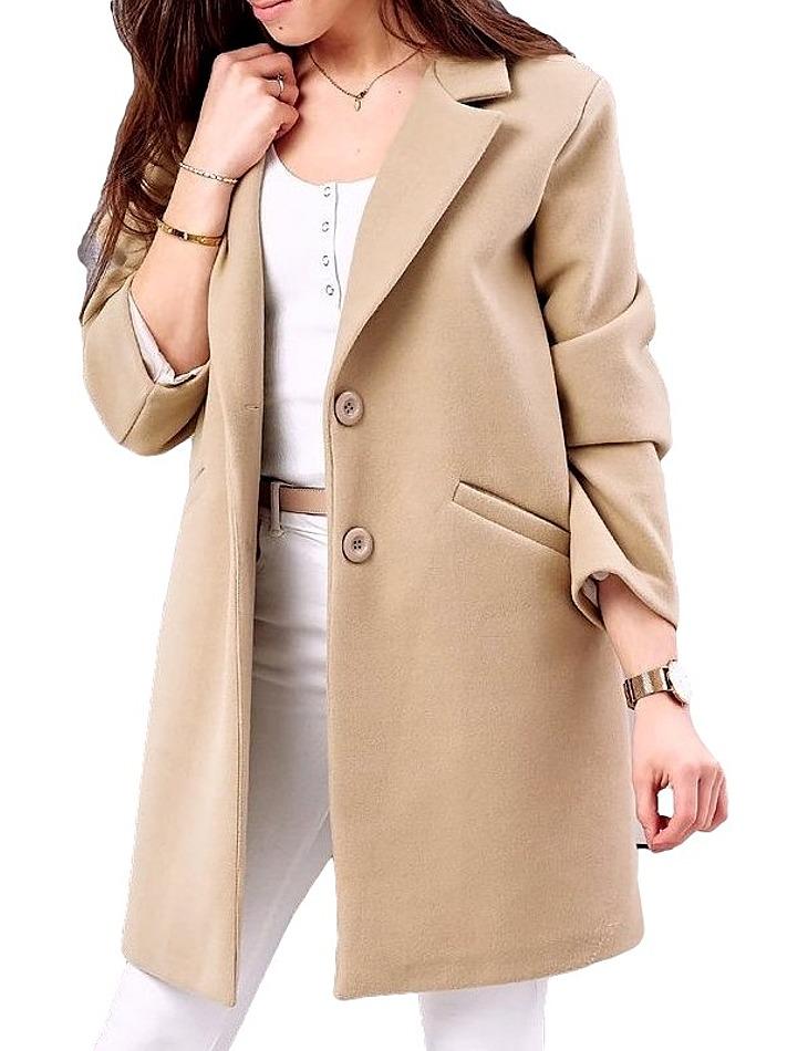 Dámsky béžový kabát vel. univerzální
