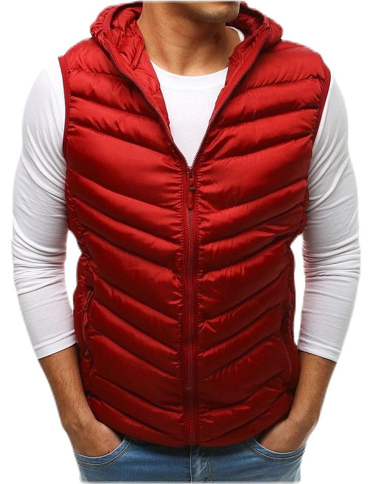 červená prešívaná vesta vel. XL