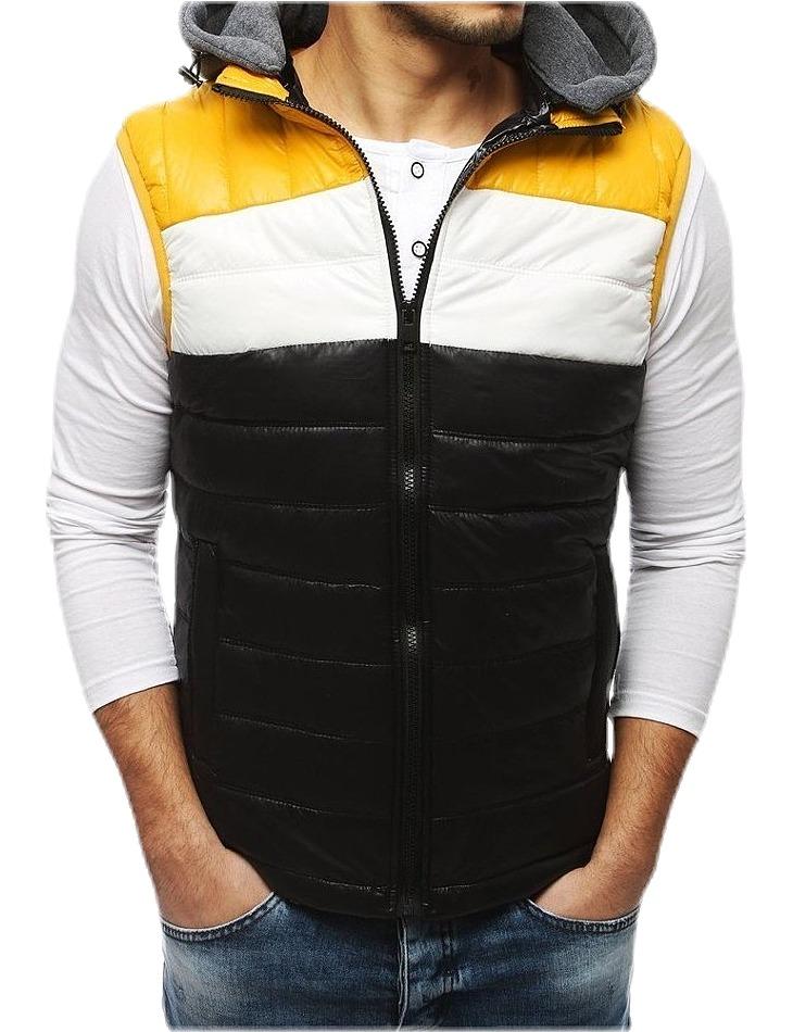 čierna prešívaná vesta s pruhmi vel. XL