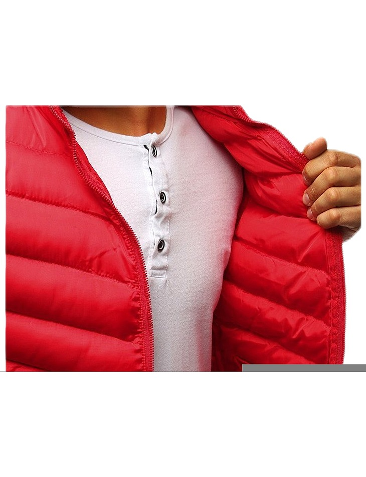 červená prešívaná vesta na zips vel. XL