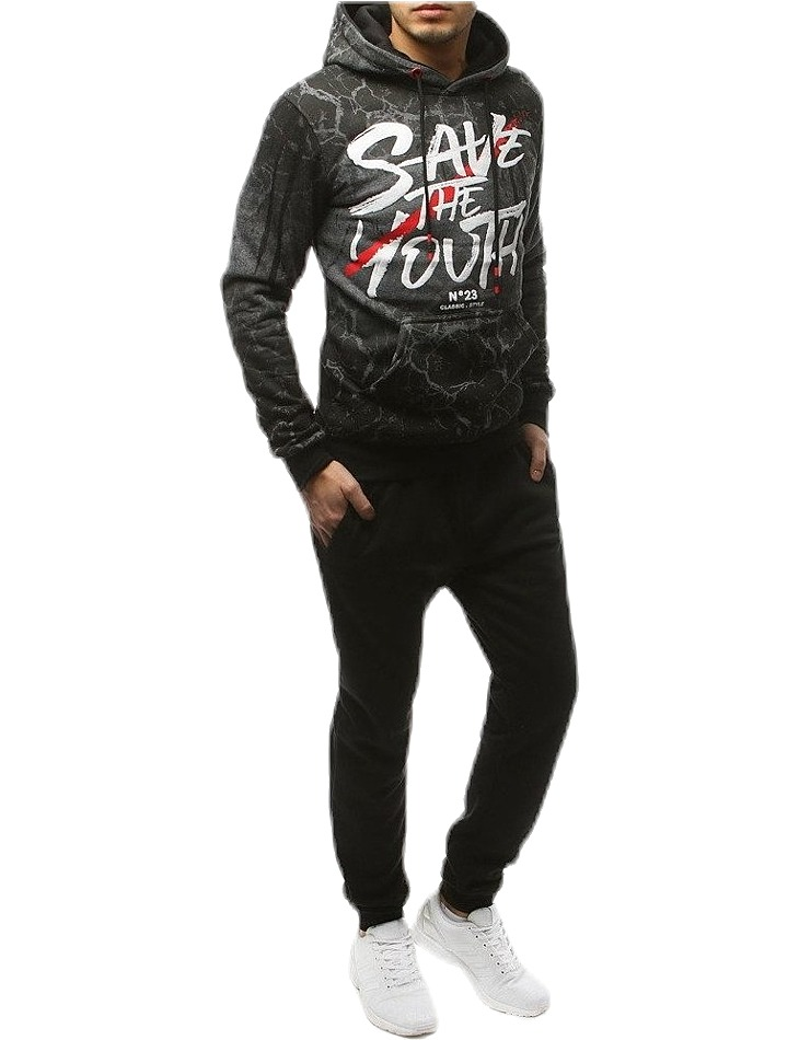 šedo-čierna súprava save the youth vel. XL
