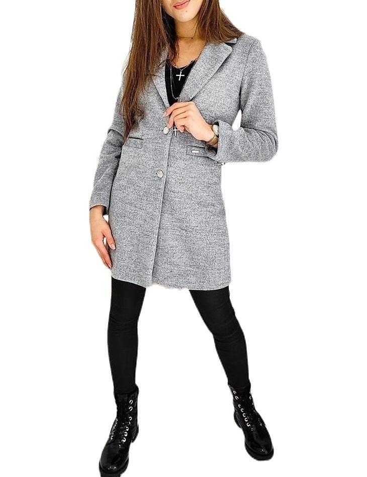 Dámsky šedý kabát vel. L