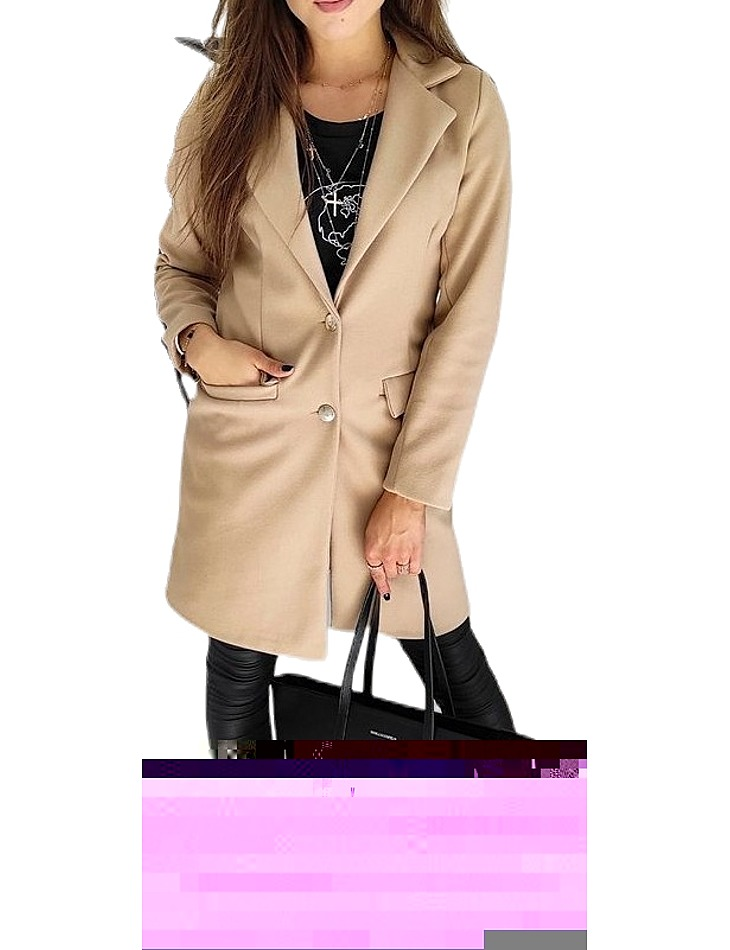 Béžový dámsky kabát vel. XL