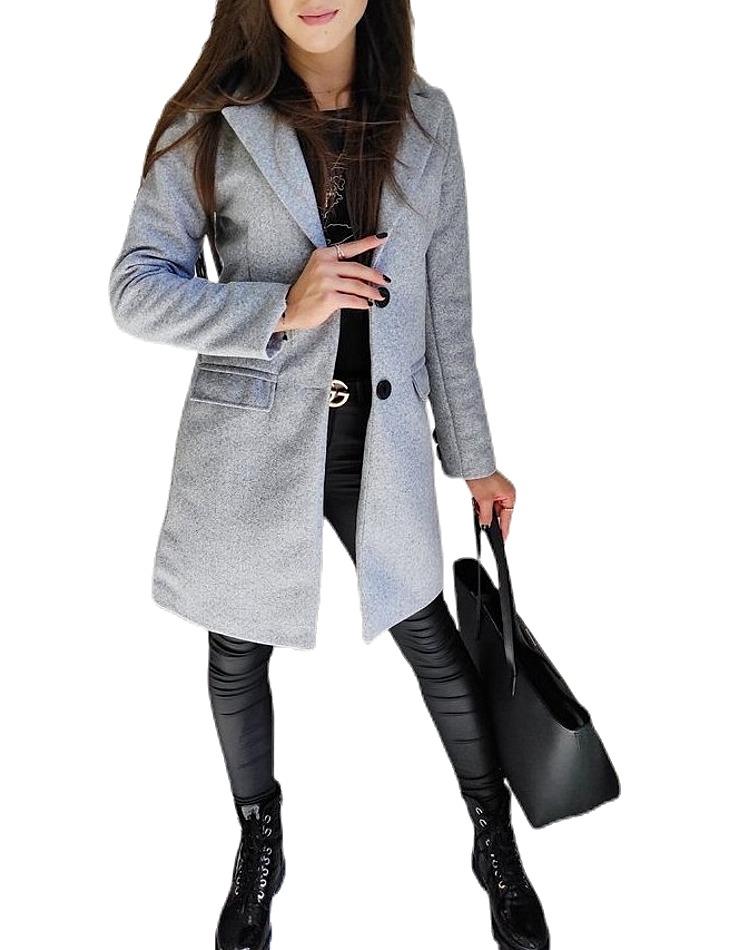 sivý dámsky kabát vel. XL