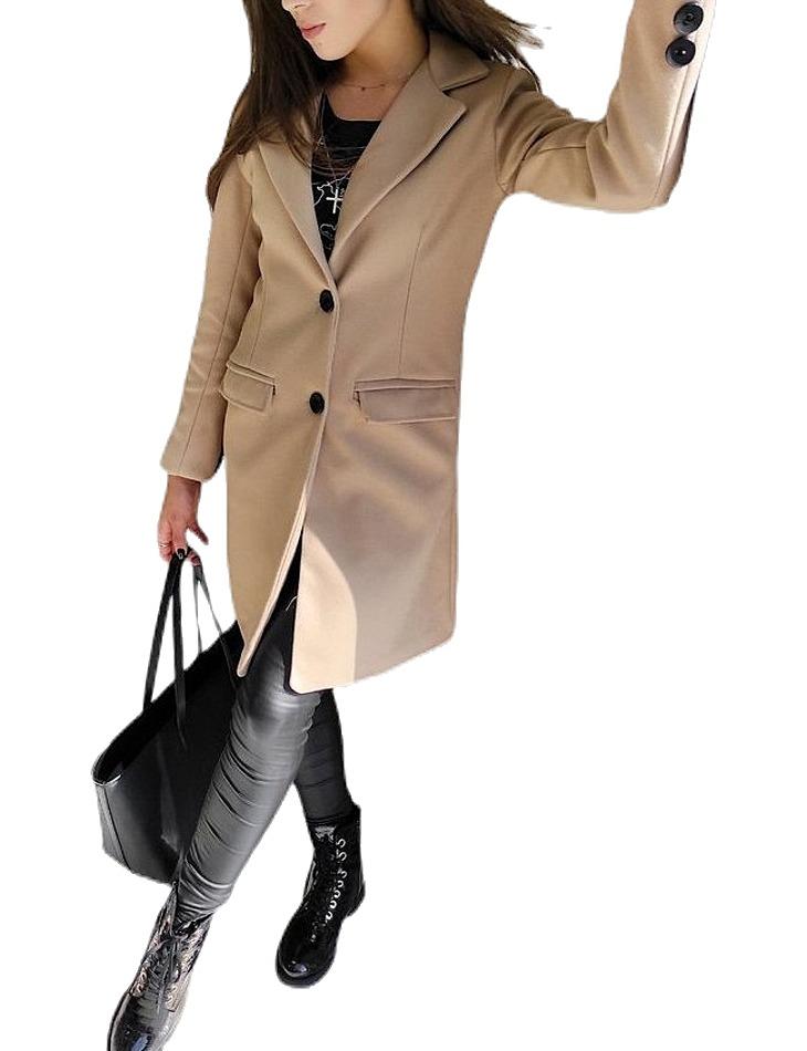 Béžový dámsky kabát vel. L