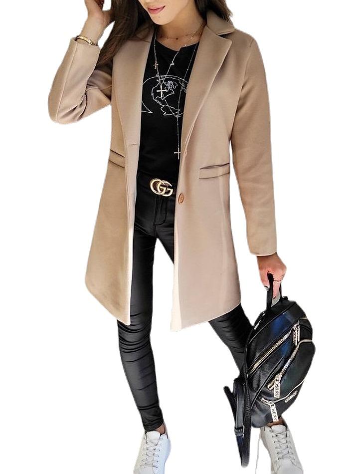 Béžový dámsky kabát vel. S