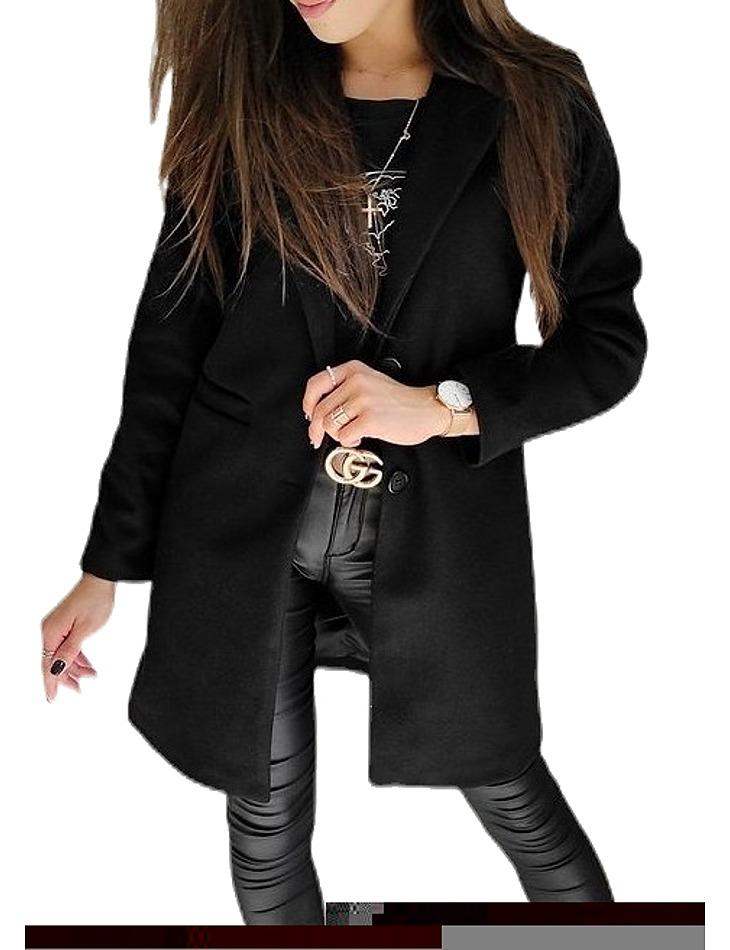 čierny dámsky kabát vel. XL