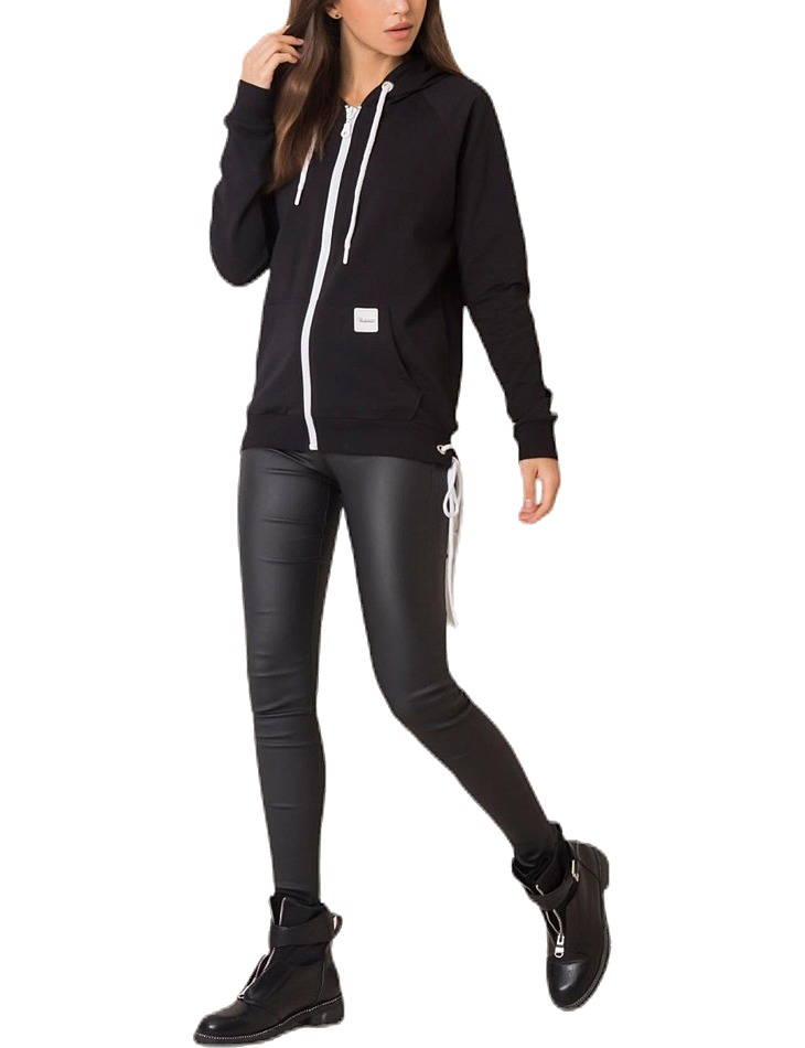 čierna mikina s kapucňou vel. L/XL