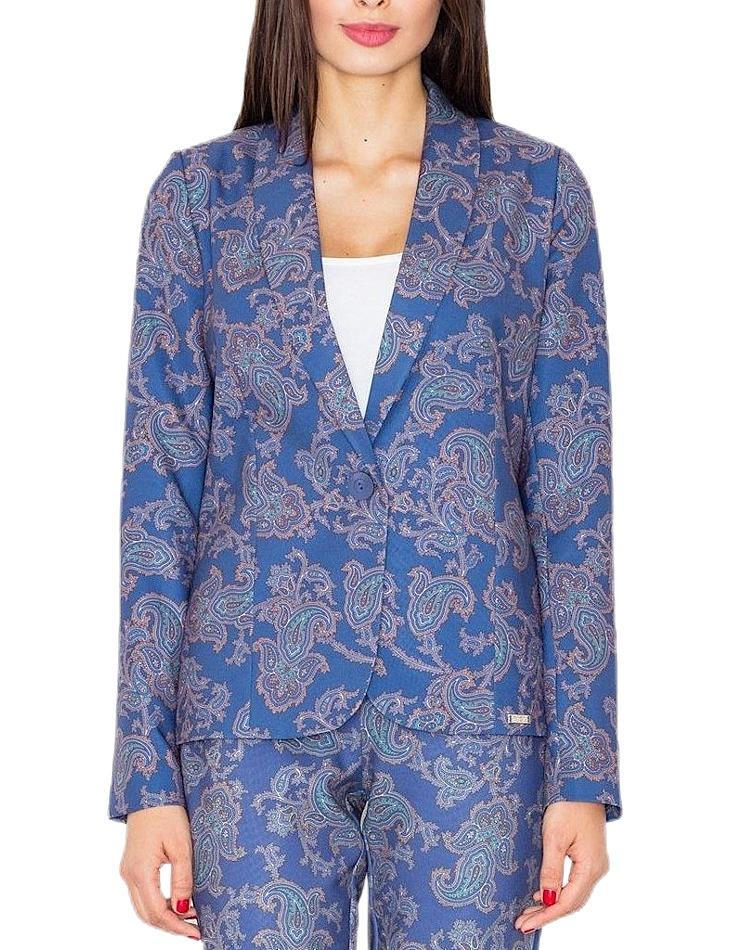 Dámske modro-fialové sako vel. XL