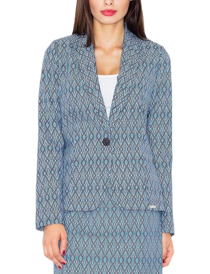 Dámske modré sako so vzormi vel. XL