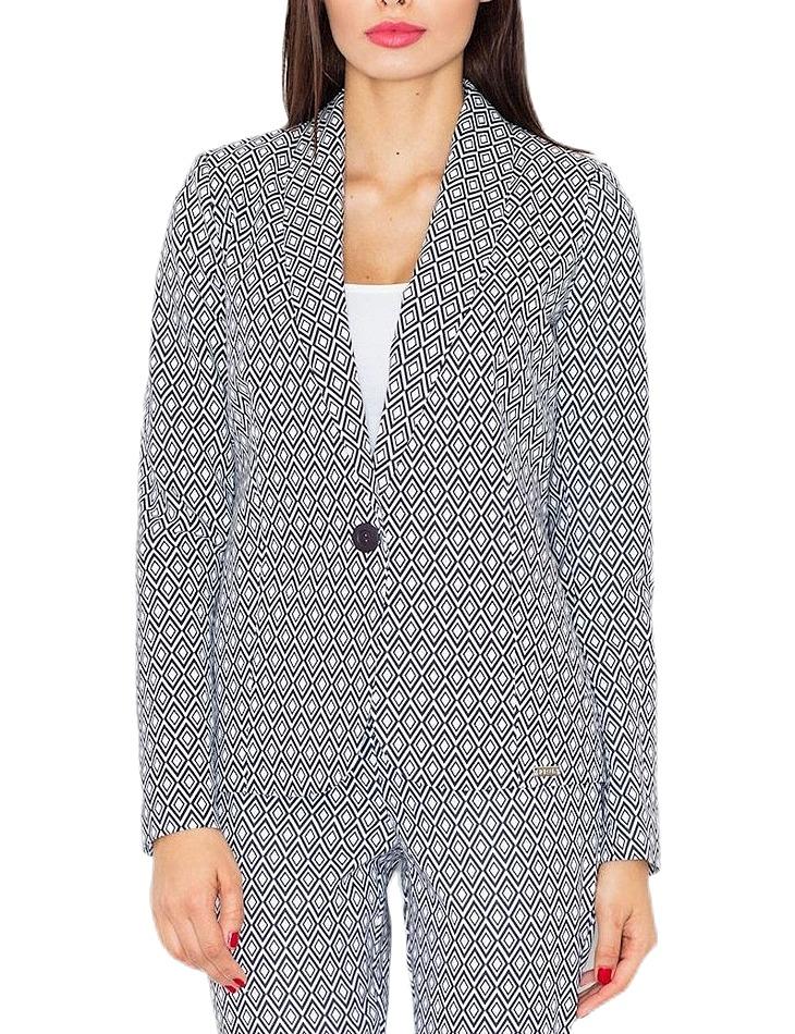 Dámske sivé sako so vzormi vel. XL
