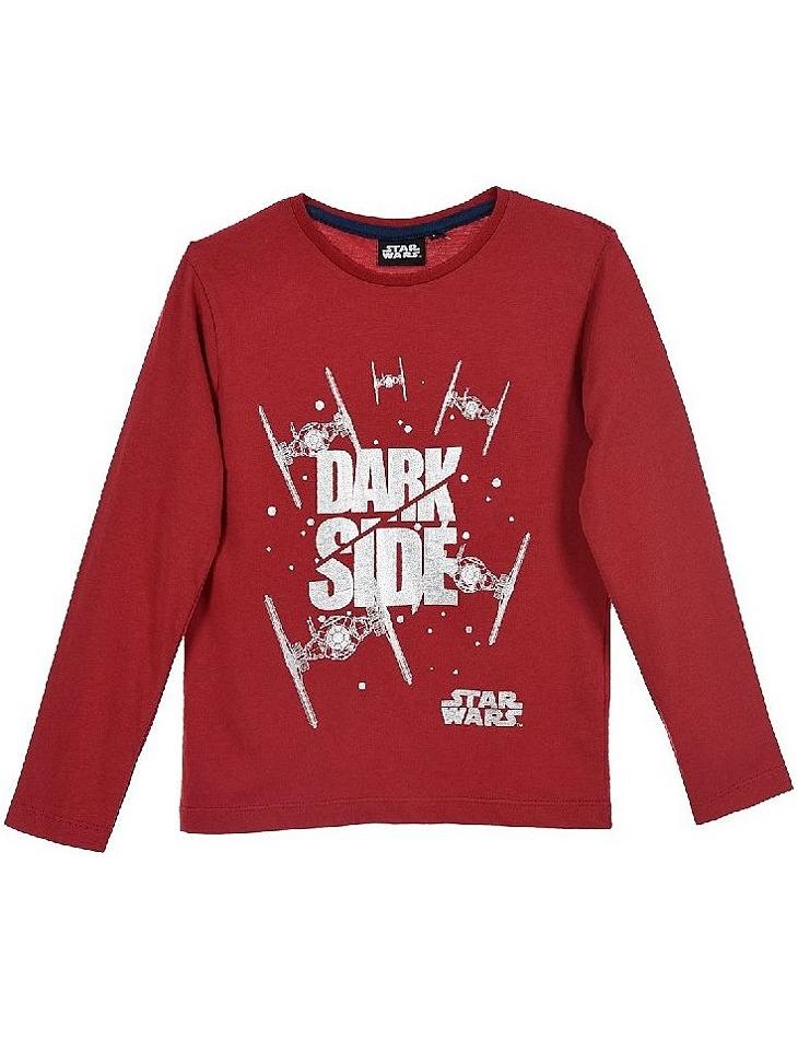 Star wars červené chlapčenské tričko s dlhým rukávom vel. 104