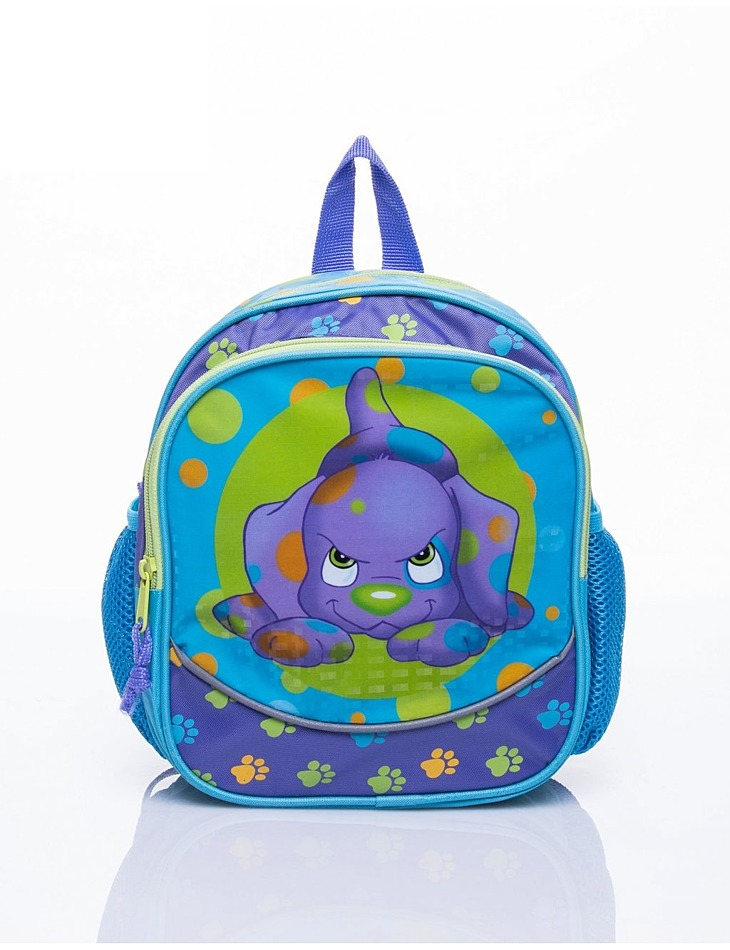 Modrý školský batoh s motívom soft spots vel. univerzální