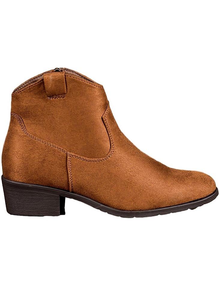 Hnedé dámske členkové topánky vel. 37