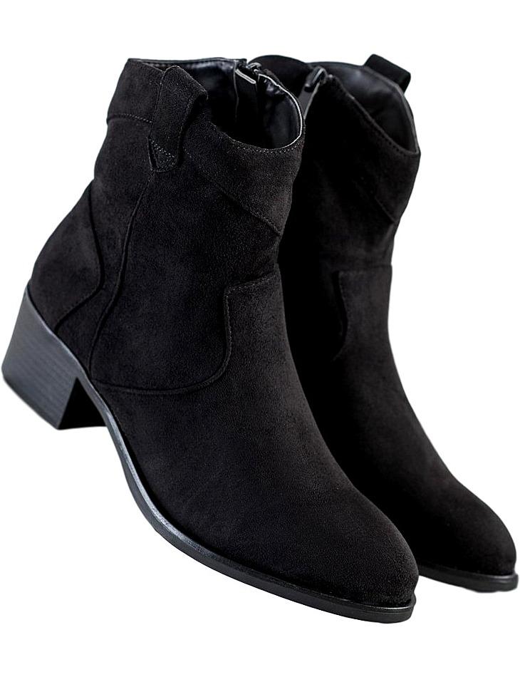 Členkové topánky na podpätku vel. 39
