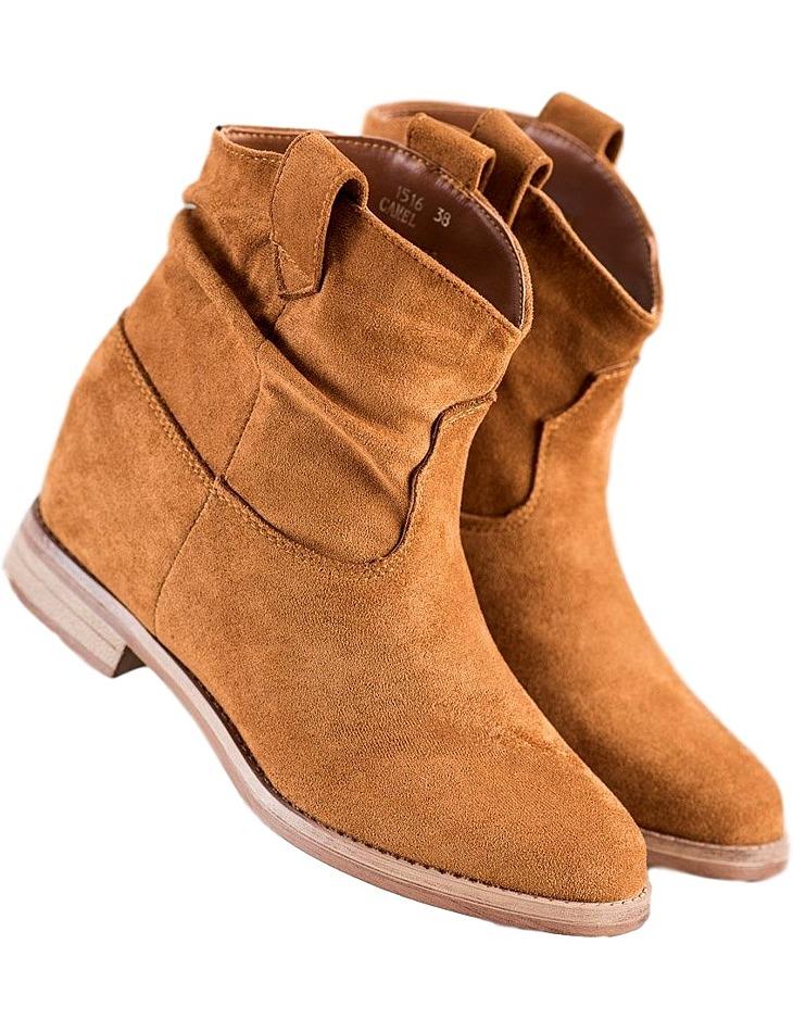 Hnedé dámske členkové topánky vel. 40