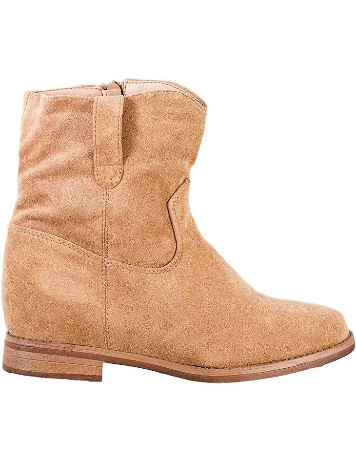 Béžové semišové členkové topánky vel. 38